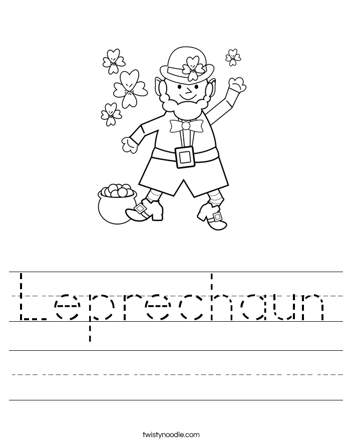Leprechaun Worksheet
