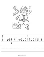 Leprechaun Handwriting Sheet