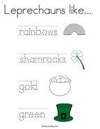 Leprechauns like  Coloring Page