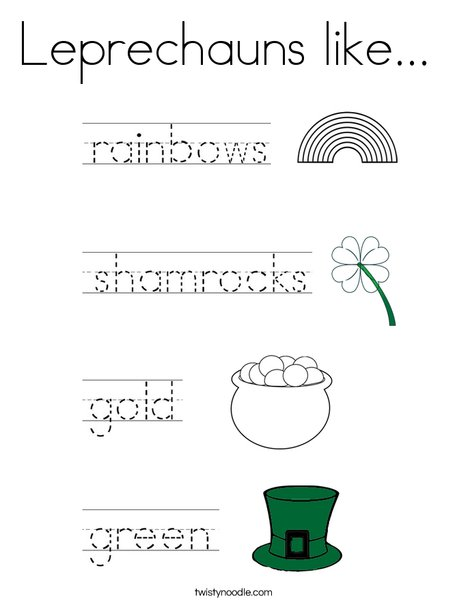 Leprechauns like... Coloring Page