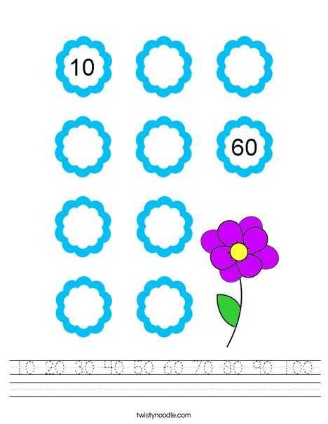 Let's Count by 10's! Worksheet