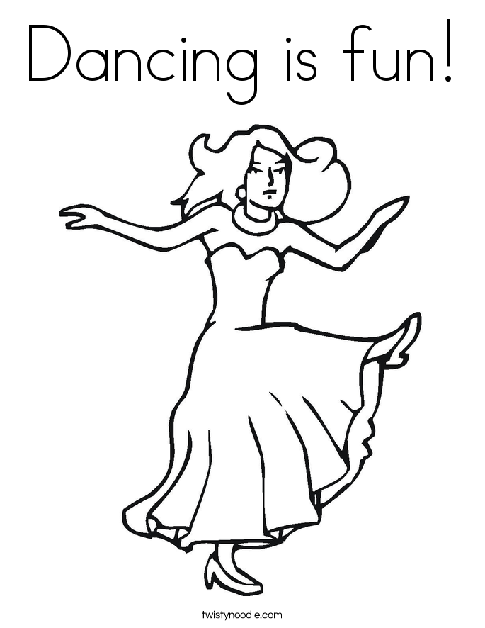 Dancing is fun! Coloring Page