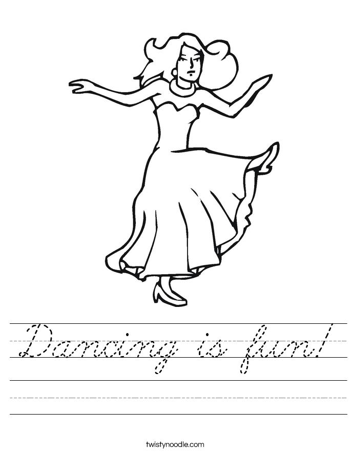 Dancing is fun! Worksheet