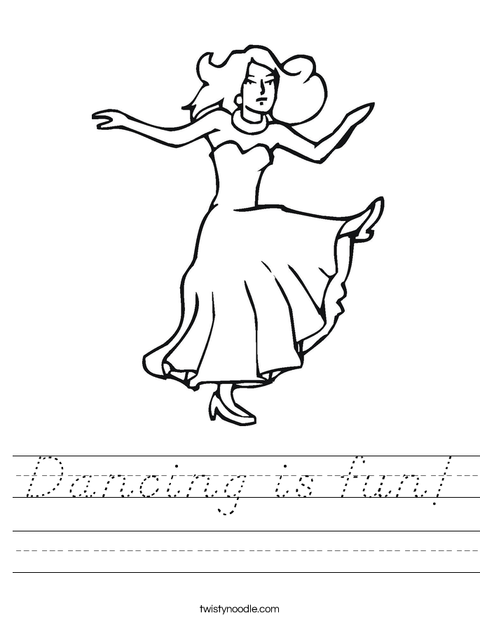 Dancing is fun! Worksheet