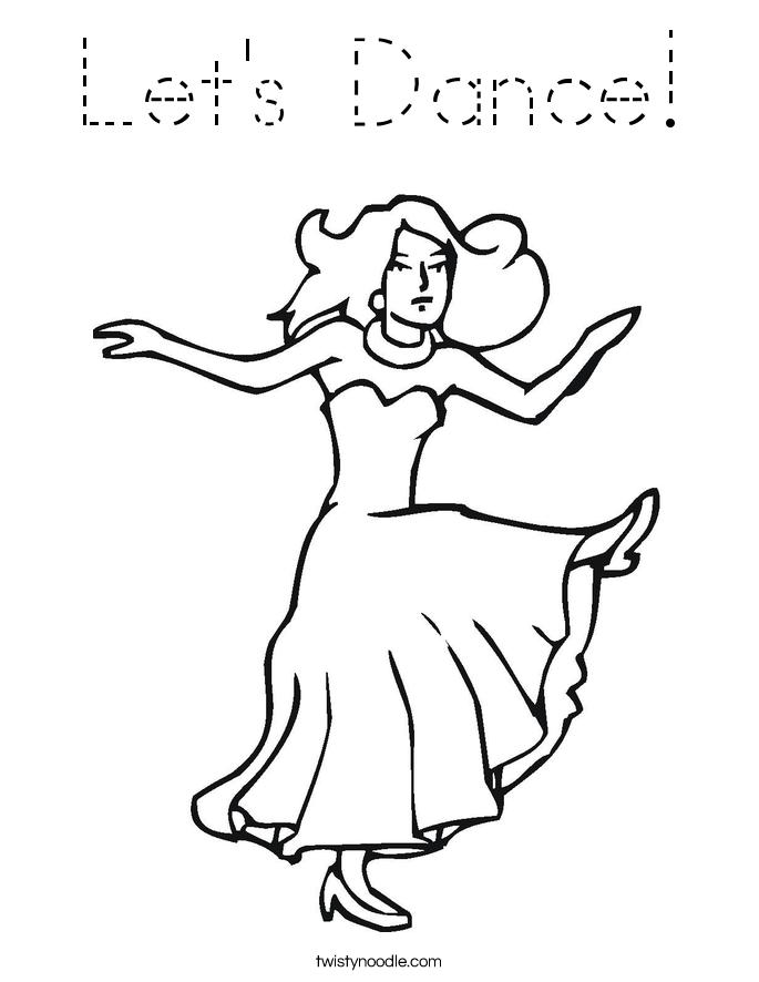 Let's Dance! Coloring Page