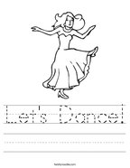Let's Dance Handwriting Sheet