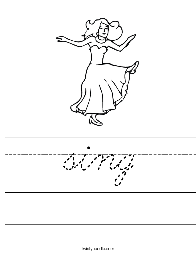 sing Worksheet
