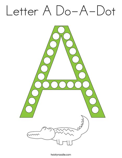 Letter A Do-a-Dot Coloring Page