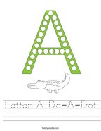 Letter A Do-A-Dot Handwriting Sheet