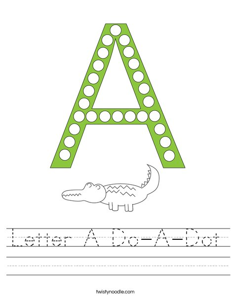 Letter A Do-a-Dot Worksheet