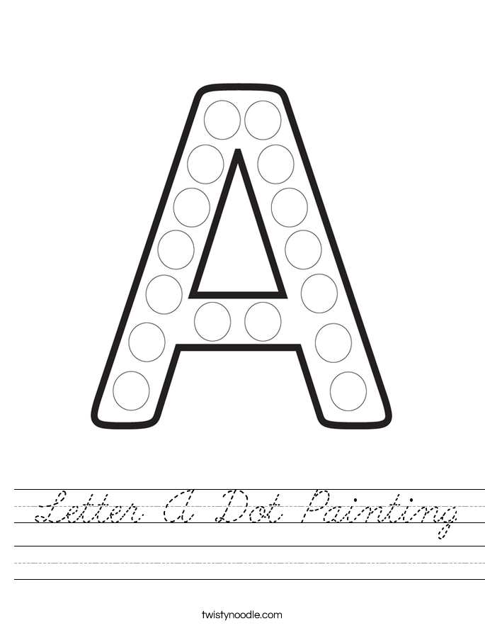 Letter A Dot Painting Worksheet