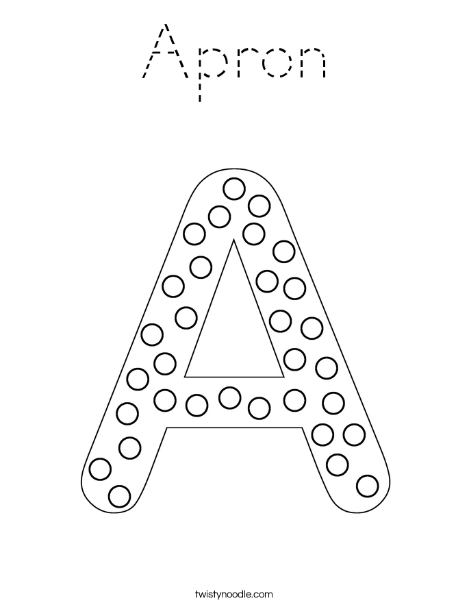 Apron Coloring Page