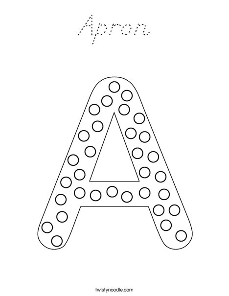 Letter A Dots Coloring Page