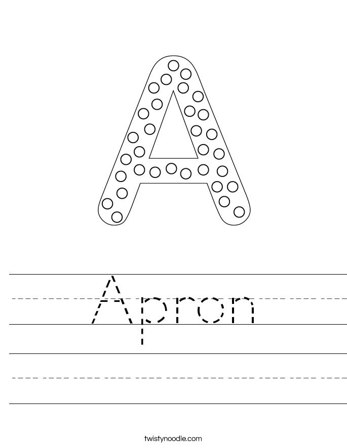Apron Worksheet