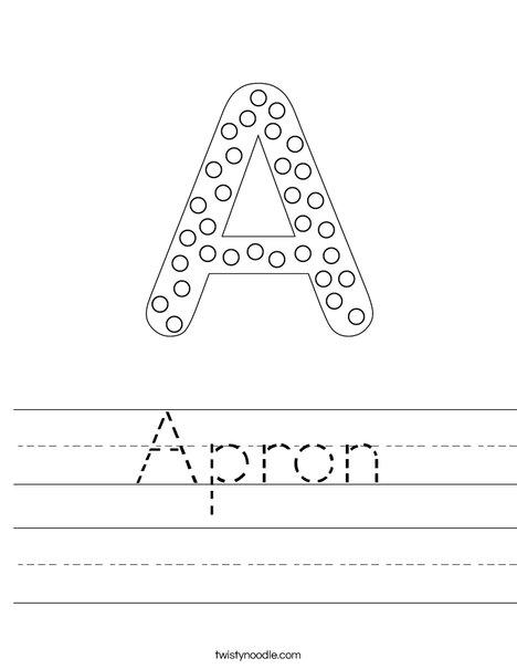 Letter A Dots Worksheet