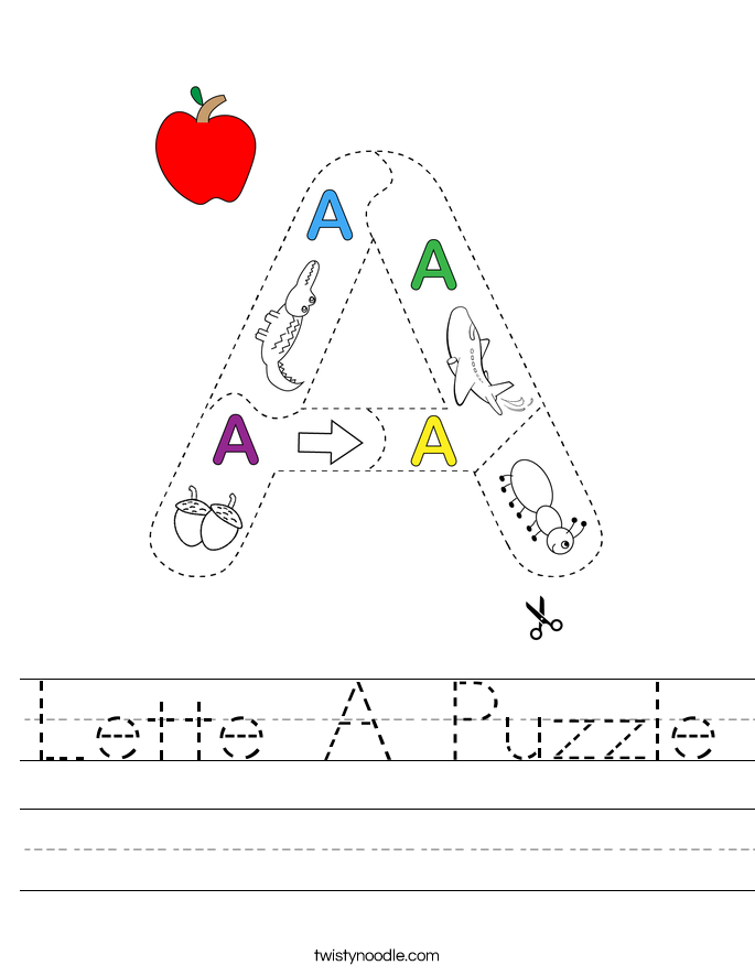 Lette A Puzzle Worksheet