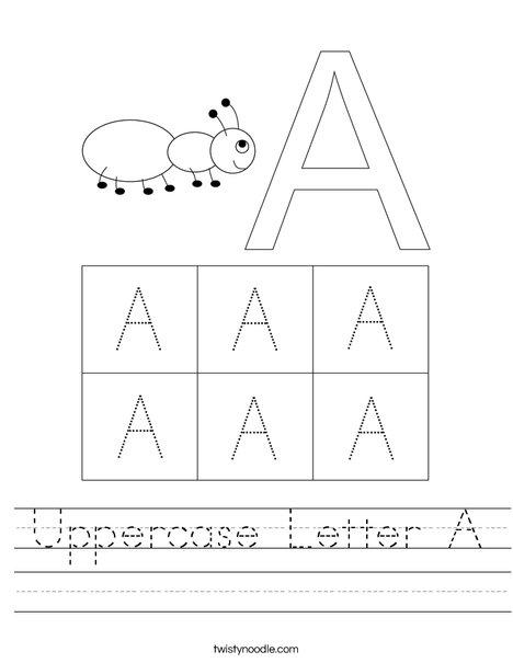 Uppercase Letter A Worksheet