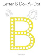 Letter B Do-A-Dot Coloring Page
