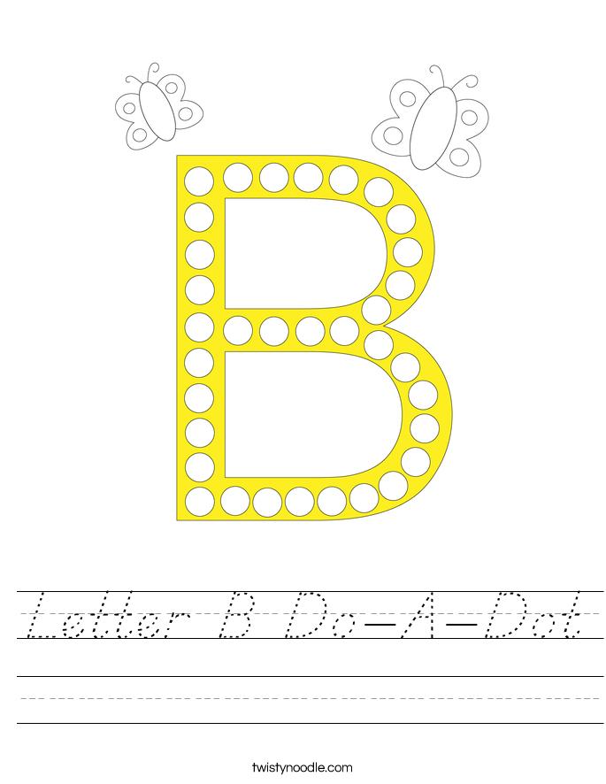 Letter B Do-A-Dot Worksheet