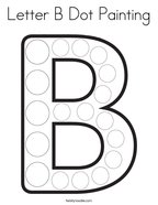Letter B Dot Painting Coloring Page