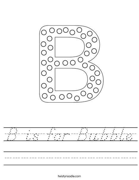 Letter B Dots Worksheet