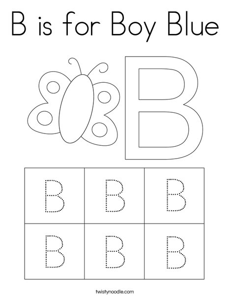 B Is For Boy Blue Coloring Page Twisty Noodle Boy Blue Coloring Page