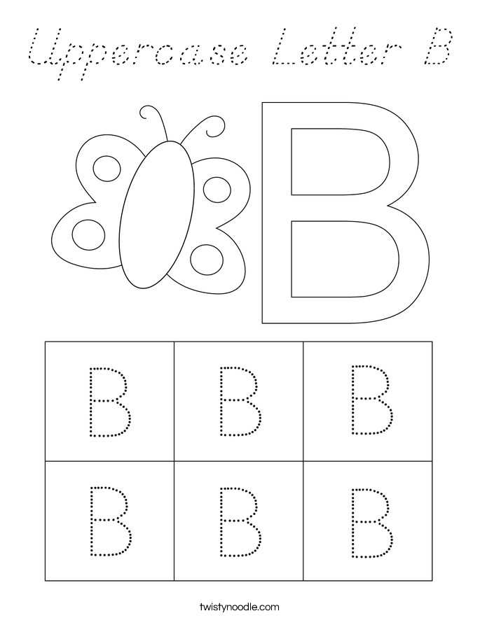 Uppercase Letter B Coloring Page