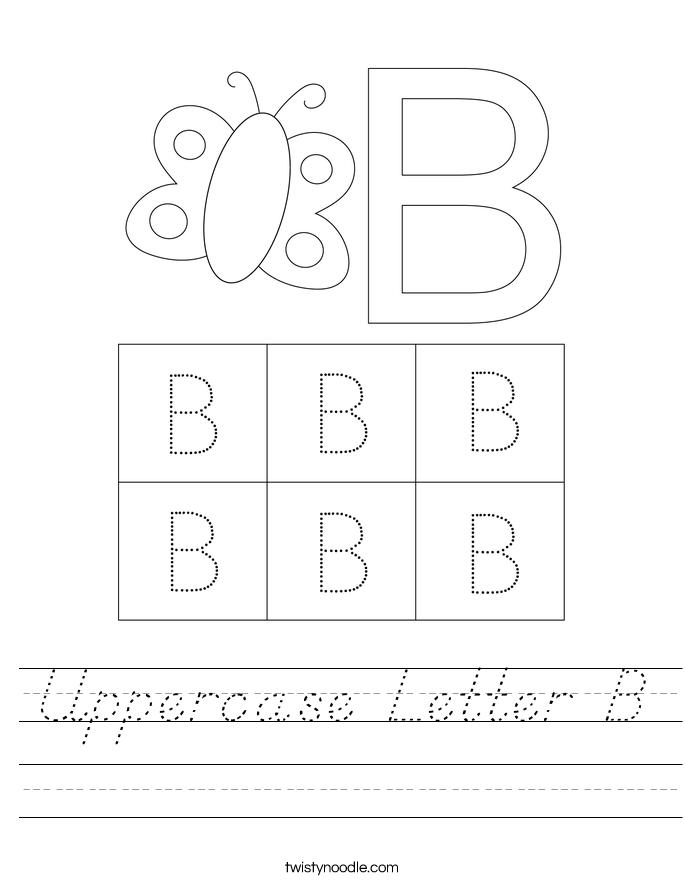 Uppercase Letter B Worksheet