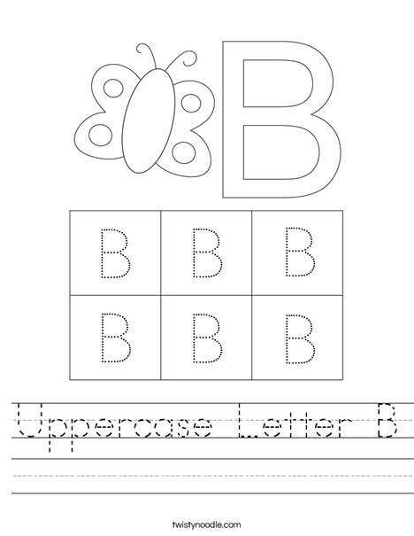 Uppercase Letter B Worksheet