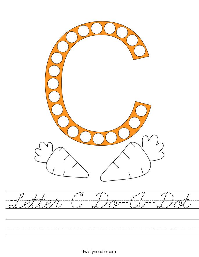 Letter C Do-A-Dot Worksheet