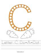 Letter C Do-A-Dot Handwriting Sheet