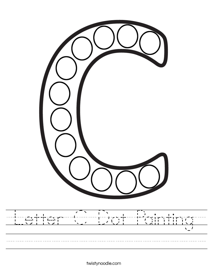 Letter C Dot Painting Worksheet