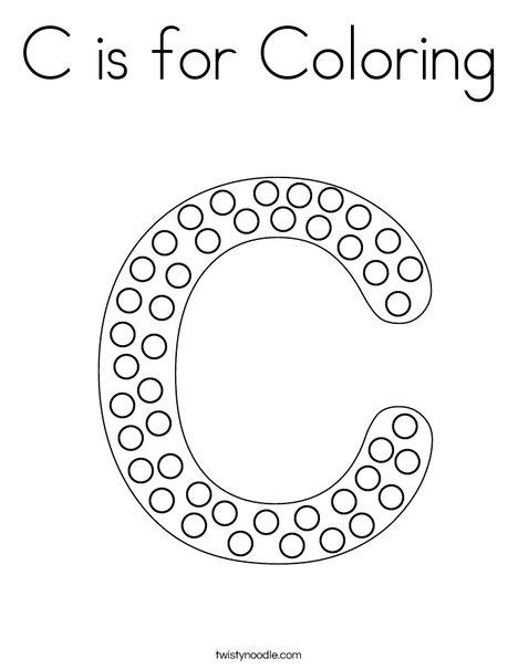 Letter C Dots Coloring Page