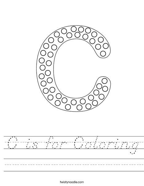 Letter C Dots Worksheet