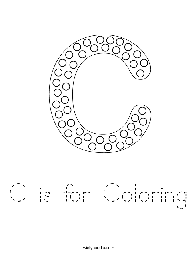 C is for Coloring Worksheet