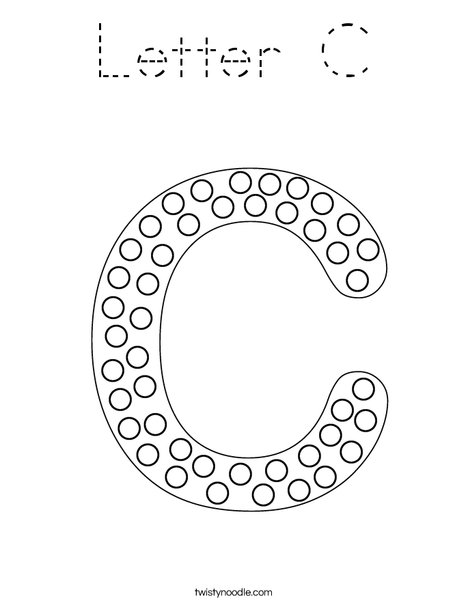 Letter C Dots Coloring Page