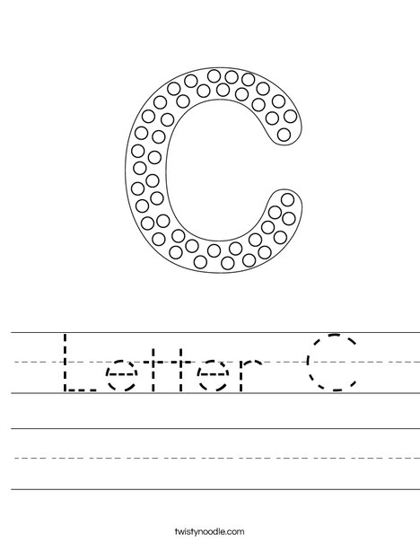 Letter C Dots Worksheet