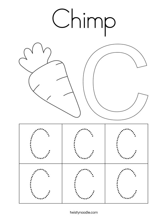 Chimp Coloring Page