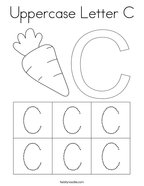 Uppercase Letter C Coloring Page