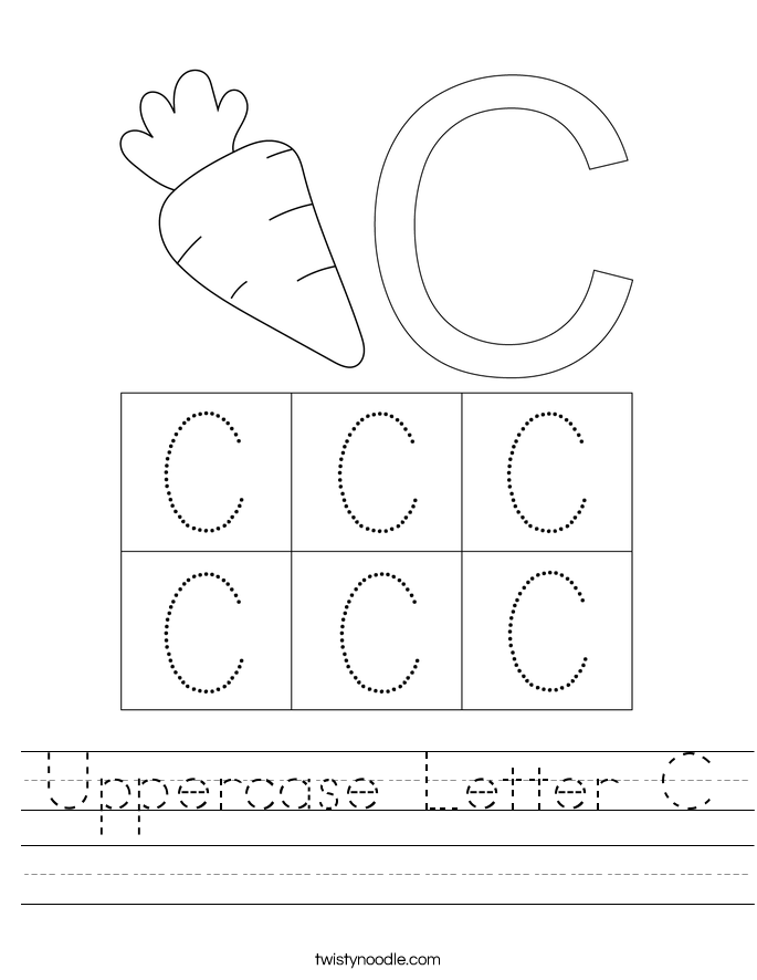 Uppercase Letter C Worksheet