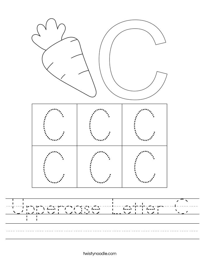 Uppercase Letter C Worksheet