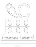 Uppercase Letter C Handwriting Sheet