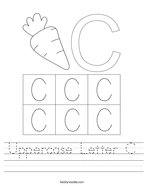 Uppercase Letter C Handwriting Sheet