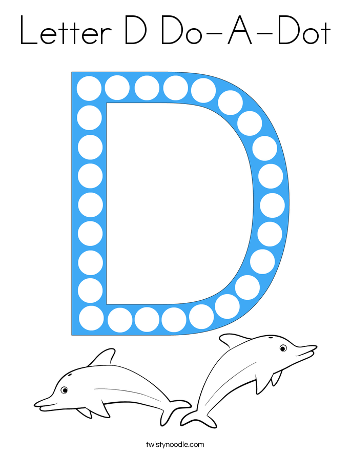 Letter D Do-A-Dot Coloring Page