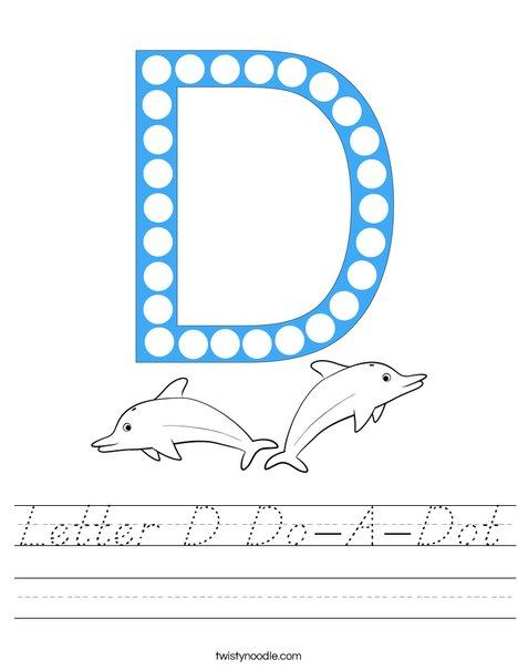 Letter D Do-A-Dot Worksheet