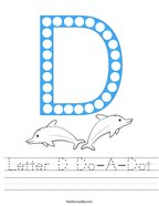 Letter D Do-A-Dot Handwriting Sheet