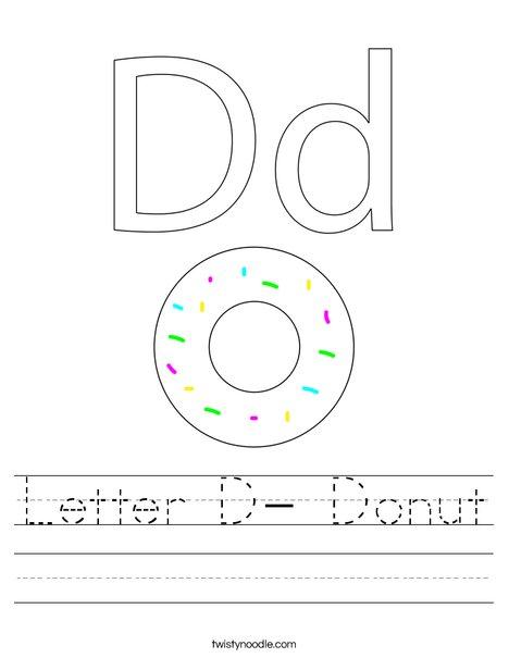 Letter D- Donut Worksheet