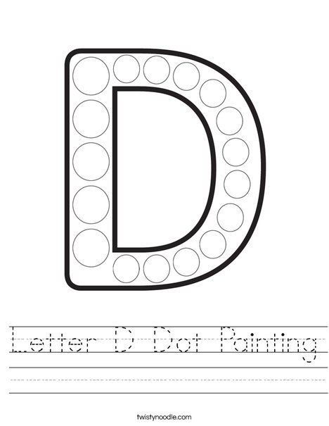 Letter D Dot Painting Worksheet