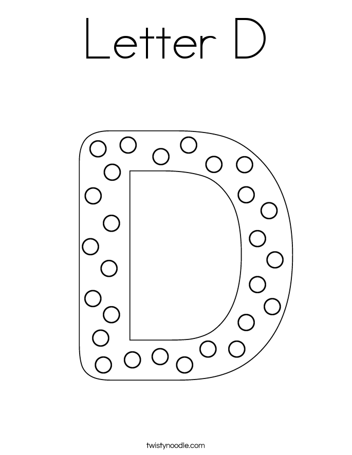 Perfect Letter D Coloring Page