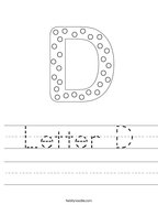 Letter D Handwriting Sheet